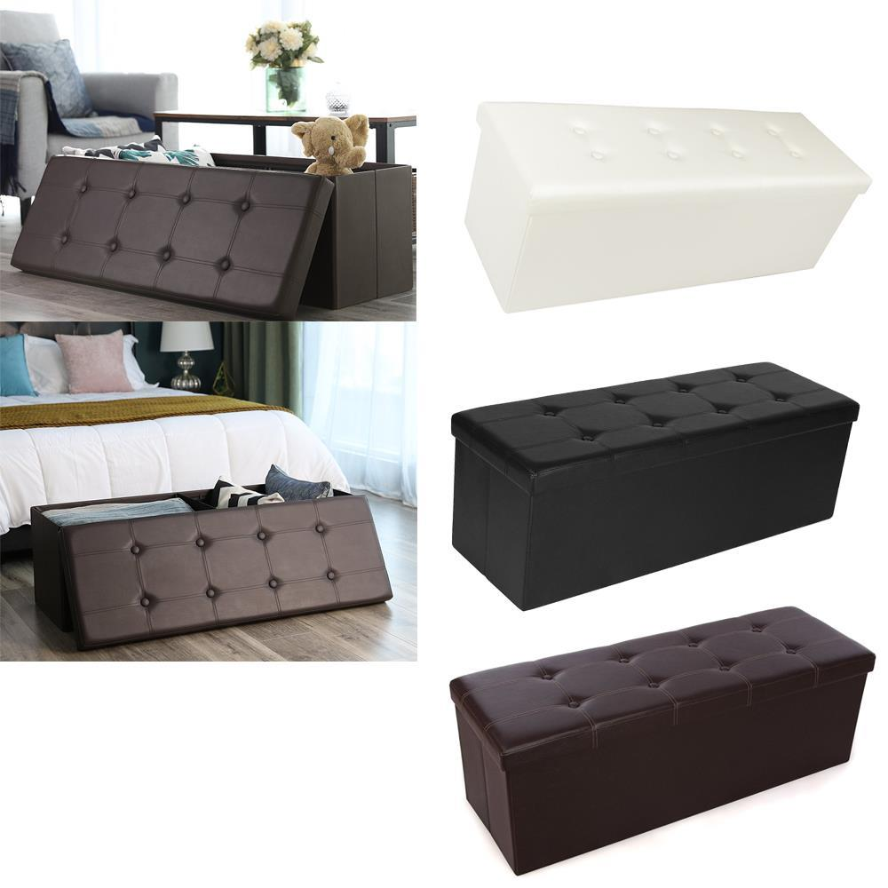 Super Details About 43 X 15 X 15 Storage Ottoman Cube Footrest Stool Coffee Table Padded Seat Unemploymentrelief Wooden Chair Designs For Living Room Unemploymentrelieforg